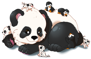Penguins and Puppies and Pandas oh my. by Mega-Arts