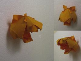 Origami Tiger Head by GEN-H