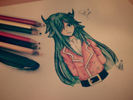 Freed Justine by Drawing-Heart