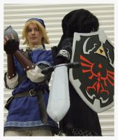 Blue Tunic Link and Dark Link by KellyJane