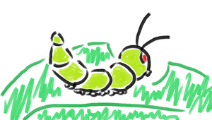 Caterpillar in 7Paint by Riptor25
