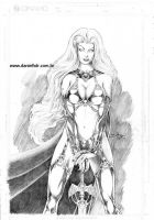 Lady Death lineartANDgraytone by danielhdr