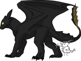 Contest Prize-Toothless by 768dragon