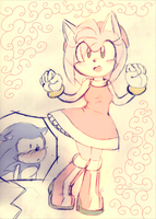 Amy Rose by Mitzy-Chan