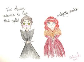 Minerva McGonagall is happy by Jen7waters