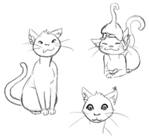 cat doodles by Alisha-town