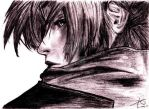Final Fantasy Sketched Cloud Strife by Cloi032