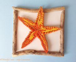 Quilling Paper Starfish, 15 x 15 cm by papersbynena