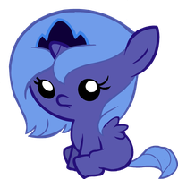 Baby Luna (Artist Unknown) by Beavernator