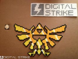 Bead Sprite: Legend of Zelda Hylian Crest by digital-strike