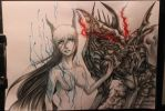 Ophelia with shadowcreeper by OpheliaArts