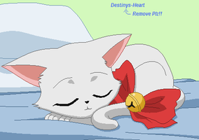 Sleepin Kitty Base:Request by Destinys-Heart