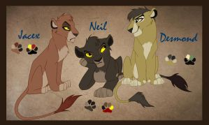 Jacex, Neil, and Desmond by IzzyShea