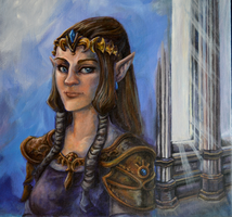 Zelda's Royal Portrait by AstroRobyn
