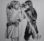 Anakin VS Obiwan - Star Wars, 15'. by Mookie1212