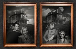 The Bates Family Portrait. by smalltownhero