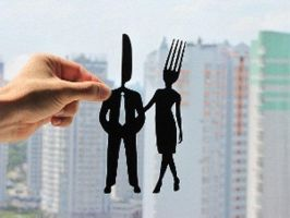 Fork and Knife Couple Handmade Original Papercut by DreamPapercut