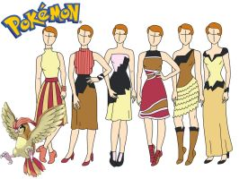 Pokemon fashion: Pigeotto by Willemijn1991