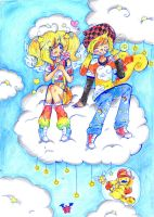 .:Cloud Spinks and Marz:. by luigipony