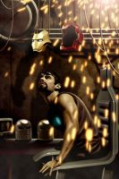 Iron Man - Garage by fernandogoni