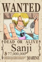 Sanji's New Wanted Poster by CodeNameZimbabwe