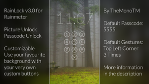 RainLock v3.0 for Rainmeter by TheMonoTM