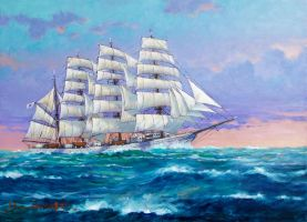 Sailing Ship -NipponMaru- by temma22