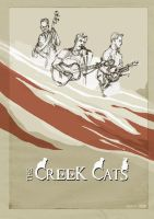 CREEK CATS - POSTER by hesir