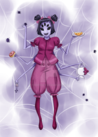 Muffet - Undertale (commission) by Airusa-Chan