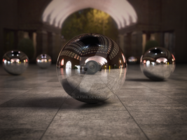 Courtyard Mirror Ball by Gr8daym8