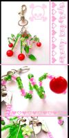 Cherry Keychain by yuki-the-vampire