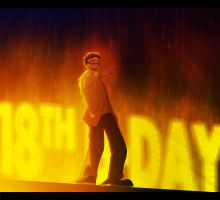 -Happy b-day Mr.Awesome- by DevaPein