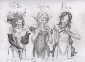 The 3 Fates: take 2 by kitsune-devil