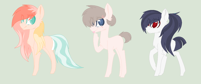 Earth Pony Adopts by thunderboltthewolf15