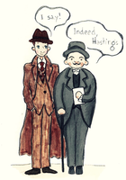 Poirot and Captain Hasting by Venus-Ironhawk