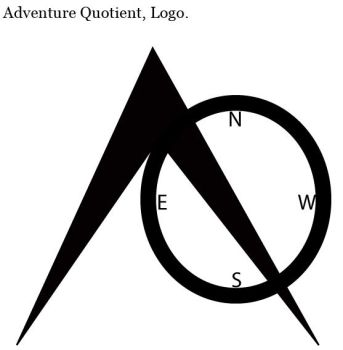 AQ. Adventure Quotient. Logo by ShivikaSood