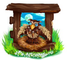 WoW Moonkin Hatchling by Ainiwaffles