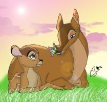 Bambi-A Moment With Mother by Superchica