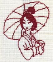 Akane the Cross Stitched Woman by missy-tannenbaum