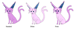 Espeon Variations Part 1 by Bwabbit