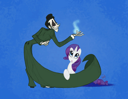 Ghosts and Ponies: Vin and Rarity by katseartist