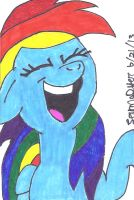 Rainbow Dash Laughing Inked by lcponymerch