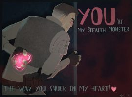 Valentines Card - Stealth Monster by kamidog