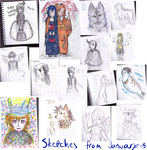 Sketches from January 2015 by Cavachon