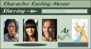 Character casting meme: Catala by lonehuntress