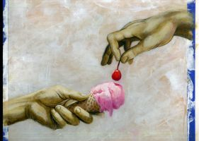 The Creation of Cherry Ice Cream by MarcosMachina