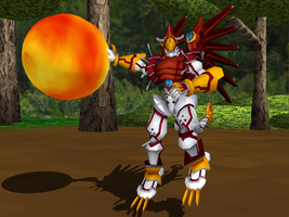 MMD NC - Digimon Savers, ShineGreymon by Zeltrax987