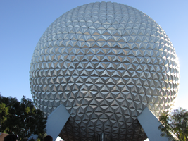 Spaceship Earth full view front by WDWParksGal-Stock