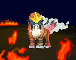 .:Shiny Entei:. by MochiFries