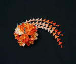 Vivid Orange Sunrise Kanzashi 171 by japanesesilkflowers